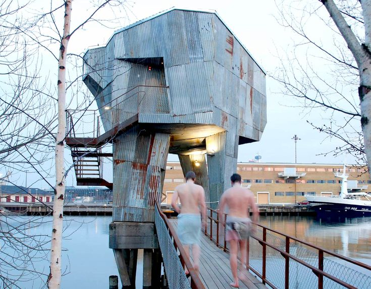 Giant AT-AT-like recycled tin structure hides an unexpected sa...