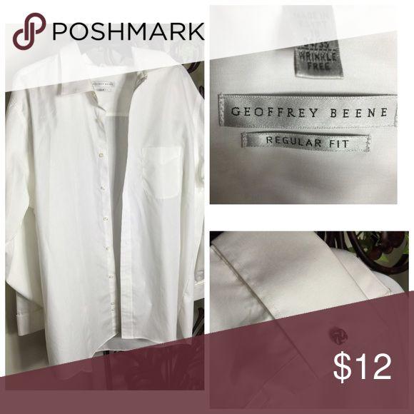 Geoffrey Beene White dress shirt No stains good condition Geoffrey Beene Shirts Dress Shirts
