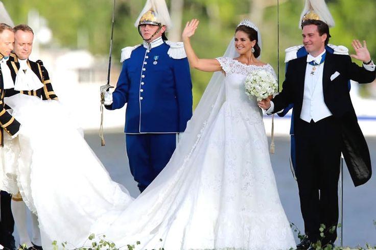 スウェーデンでロイヤルウエディング、マデレーン王女が結婚