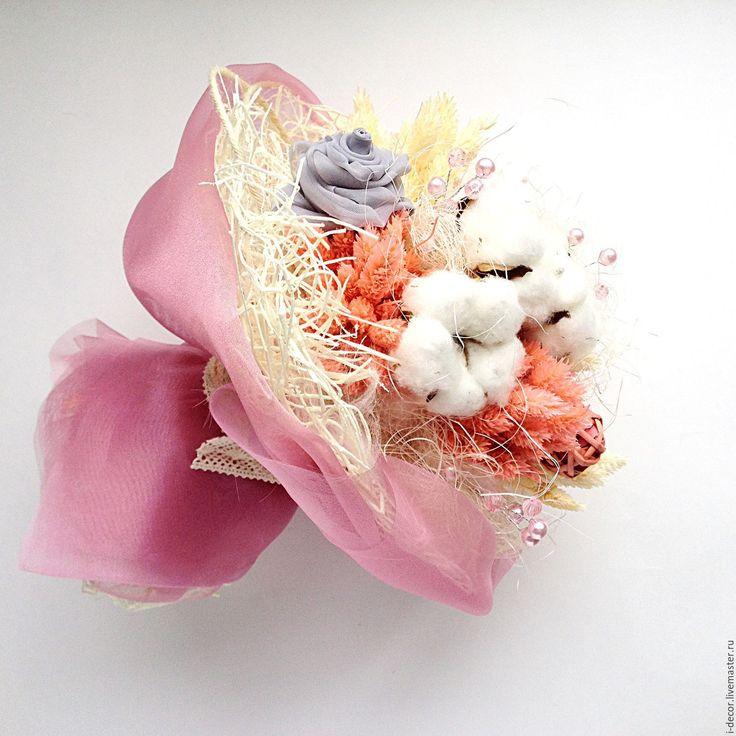 Купить Букет невесты Свадебный букет Букет из сухоцветов - бледно-розовый, букет невесты