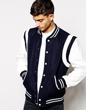 Selected - Blouson d'université en cuir