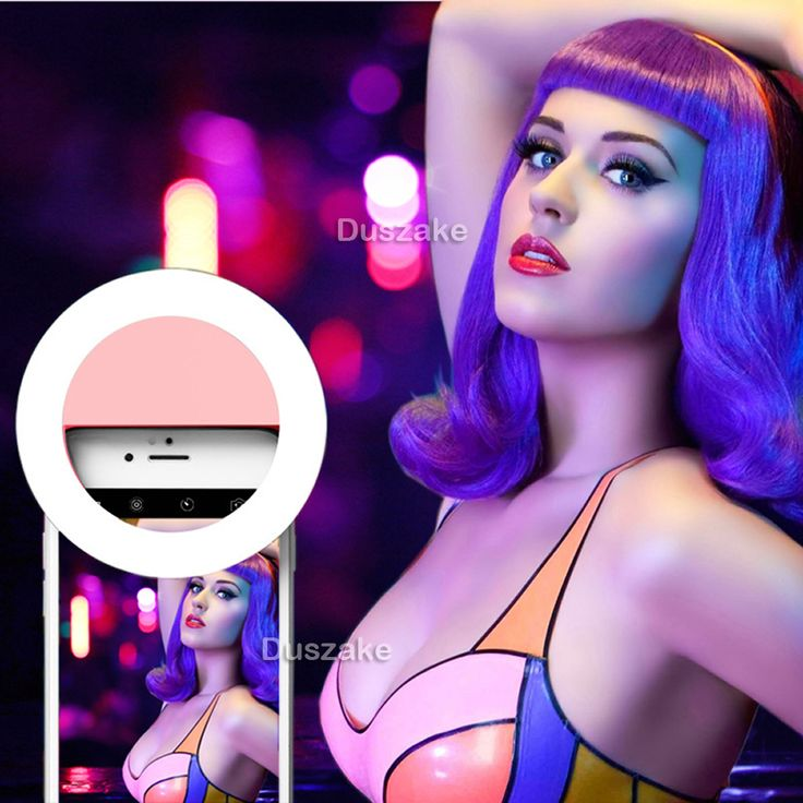 Led Selfie Lamp Ring Light Portable Flash Camera Phone Photography Ring Light Enhancing Photography for IPhone Samsung Pink 52
