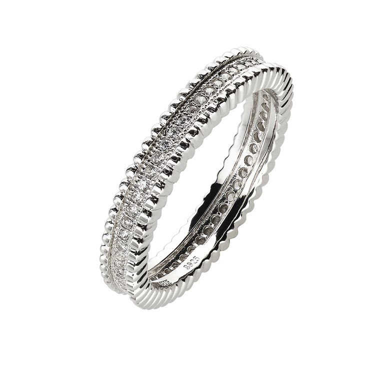 Oxette Sterling Silver 925 Ring with zircons - Available here http://www.oxette.gr/kosmimata/daktulidia/silver-ring-wint-cz-oxette-625l-1/    #oxette #silver #ring #jewellery