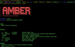 Amber is a proof of concept packer, it can pack regularly compiled PE files into reflective PE files that can be used as multi stage infection payloads. If you want to learn the packing methodology used inside the Amber check out below.