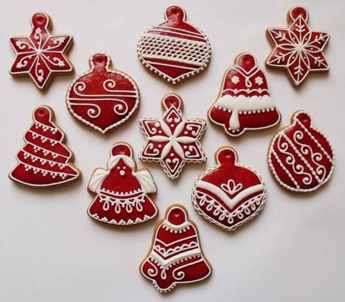 Decoration Biscuit Noel.Glaçage Biscuit Noël Le Renne Rudolph Et Le Père Noël à