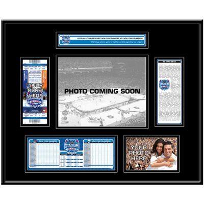 New York Islanders vs. New York Rangers 2014 NHL Stadium Series Ticket Frame