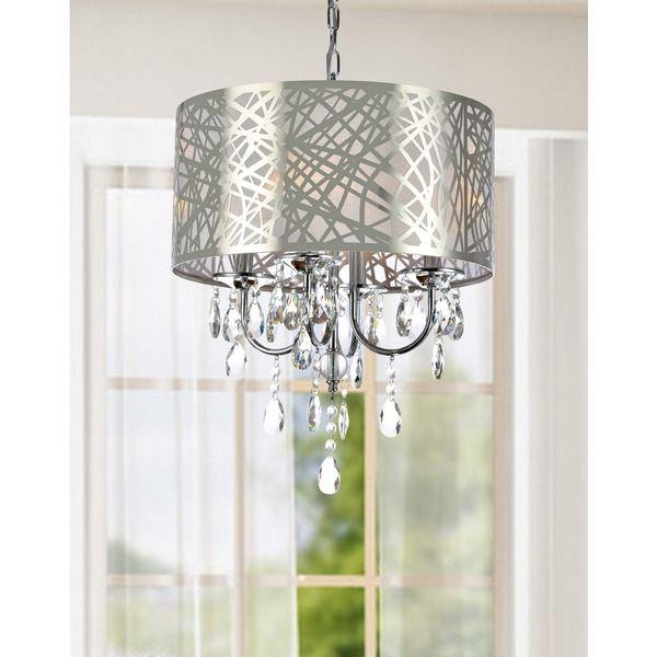 4-light Chrome Crystal Chandelier - Overstock™ Shopping - Great Deals on Otis Designs  sc 1 st  Pinterest & 182 best Let There Be Light images on Pinterest | Chrome finish ... azcodes.com