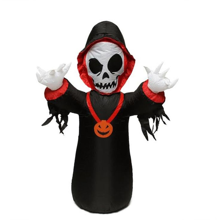 BZB 4' Inflatable Spooky Grim Reaper Lighted Halloween Yard Art Decoration 31739599