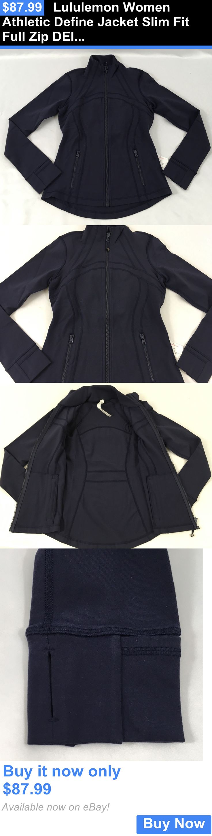 Women Athletics: Lululemon Women Athletic Define Jacket Slim Fit Full Zip Dein Navy Blue Size 4 BUY IT NOW ONLY: $87.99