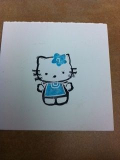 Hello Kitty carved with the Undefined Carving KitHands Carvings, Stamps Carvings, Undefined Carvings, Kitty Carvings, Carvings Stamps, Carvings Kits