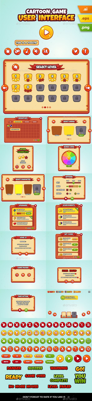 Cartoon Game User Interface — Vector EPS #Graphical User Interface #ios • Download ➝ https://graphicriver.net/item/cartoon-game-user-interface/19747802?ref=pxcr