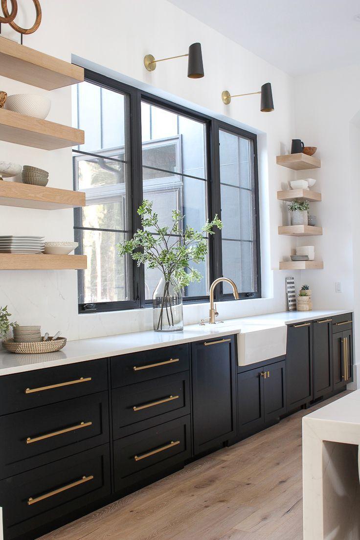 The Forest Modern Kitchen Q A Black Kitchen Cabinets Kitchen