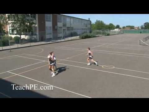Netball Drill - Defending - 2nd Stage Centre Pass - YouTube