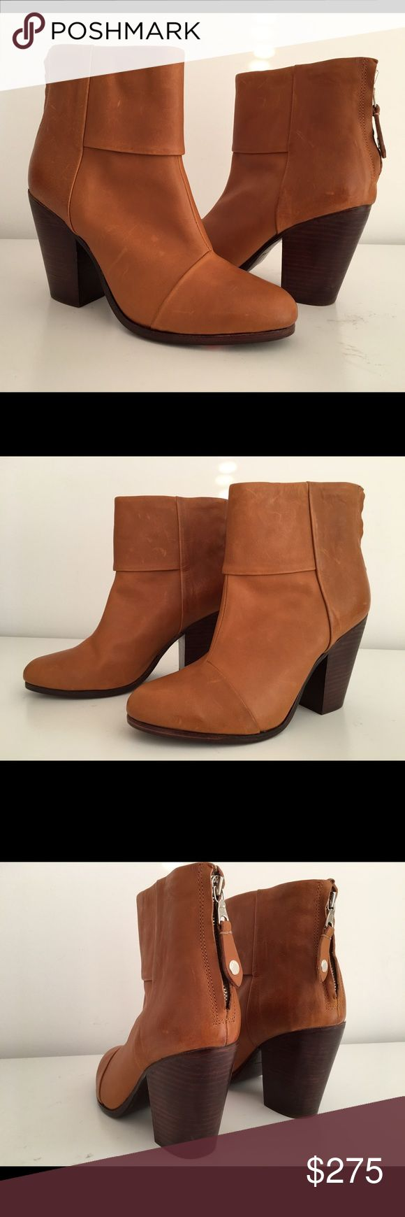 "RAG BONE CLASSIC NEWBURY TAN LEATHER ANKLE BOOTIES RAG BONE CLASSIC NEWBURY TAN LEATHER ANKLE BOOTIES, SIZE 40, STACKED HEEL 4"", LEATHER LINING AND SOLE, BRAND NEW WITH ORIGINAL BOX AND DUST BAG rag & bone Shoes Ankle Boots & Booties"