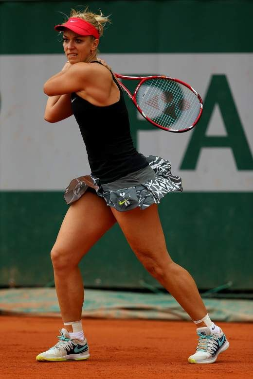 Sabine Lisicki during her Matchof the French Open at Roland Garros May 26-2014 #WTA #Lisicki #RolandGarros