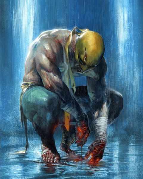 """3,073 Likes, 3 Comments - @domstar8 on Instagram: """"Iron-Fist By Gabriele Dell'otto"""""""