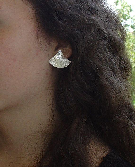 EARRINGS  handmade silver stud earrings SHELLS SHORT by Vroullis, €32.00