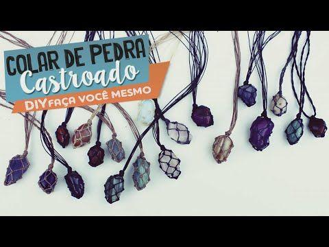 DIY Colares / Pedra Castroada, Filtro dos Sonhos, Pingentes | Maísa Flora - YouTube