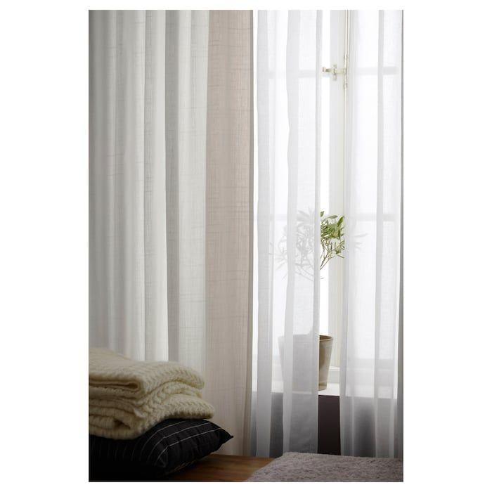 Ikea Ritva Curtains With Tie Backs 1 Pair Extra Long Curtains Long Curtains Curtains
