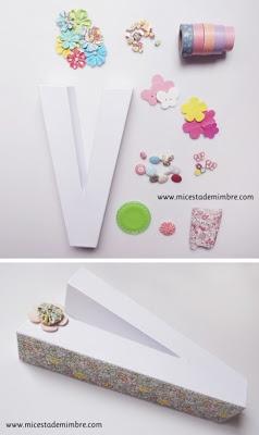 DIY: letras de cartón decoradas.