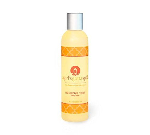 A Girls Gotta Spa Energizing Citrus Natural and Organic Body Wash Sulfate Free and Moisturizing 8oz Bottle for Dry Skin -- You can get more details by clicking on the image.