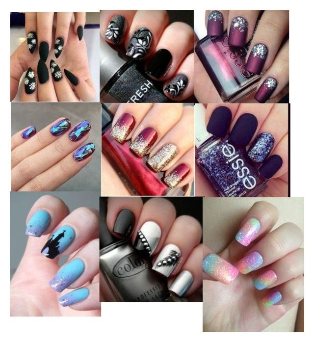 """Different Types Of Nail Art Designs #1"" by rbugybug ❤ liked on Polyvore featuring Essie and Tuttle"