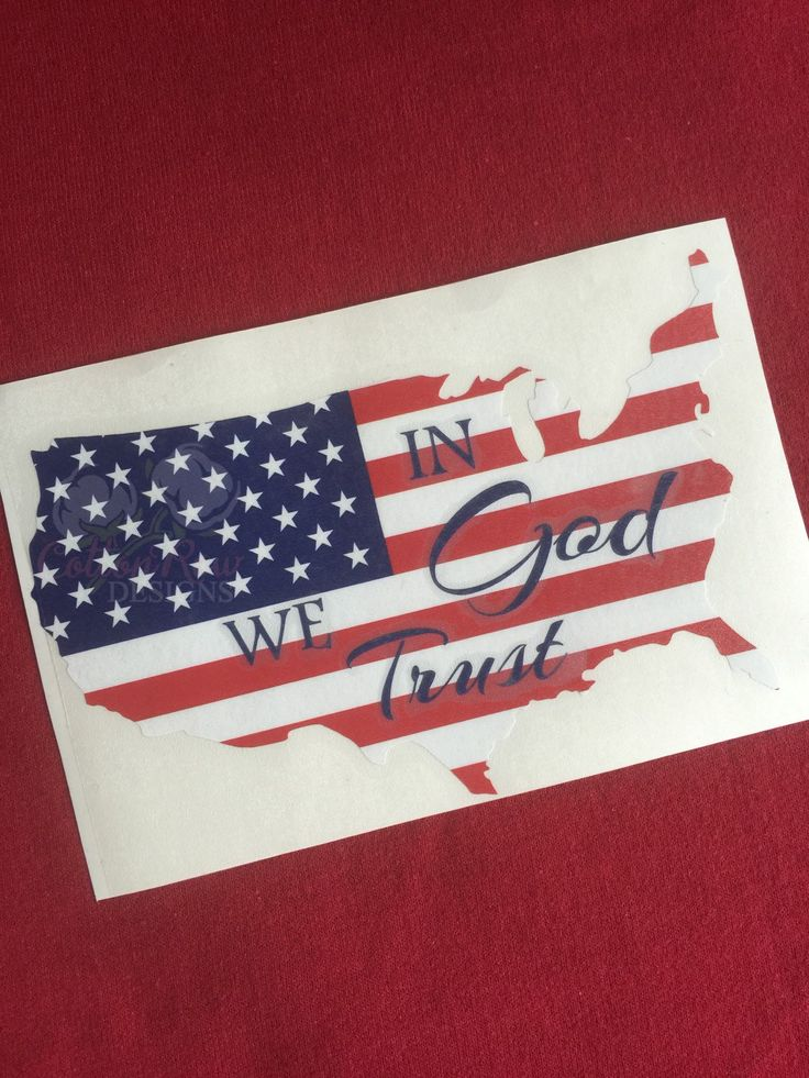 In GOD We Trust American Flag decal by CottonRowDesigns on Etsy