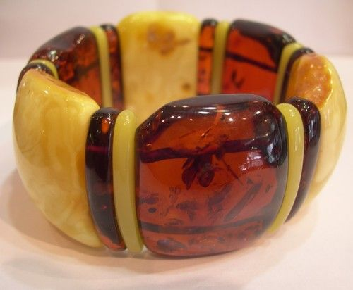 AMBER LOVE  . . .   Heavy Natural Baltic Amber Bracelet