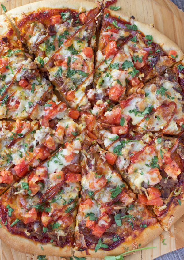Smoked Brisket Pizza. The perfect use for leftover brisket and quite possibly the best pizza EVER!