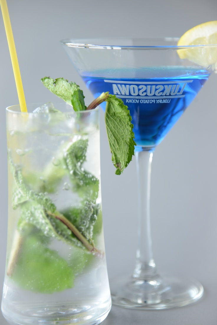 More cocktail choices - our classic mojito and the blue oasis. #Drinks #Cocktails