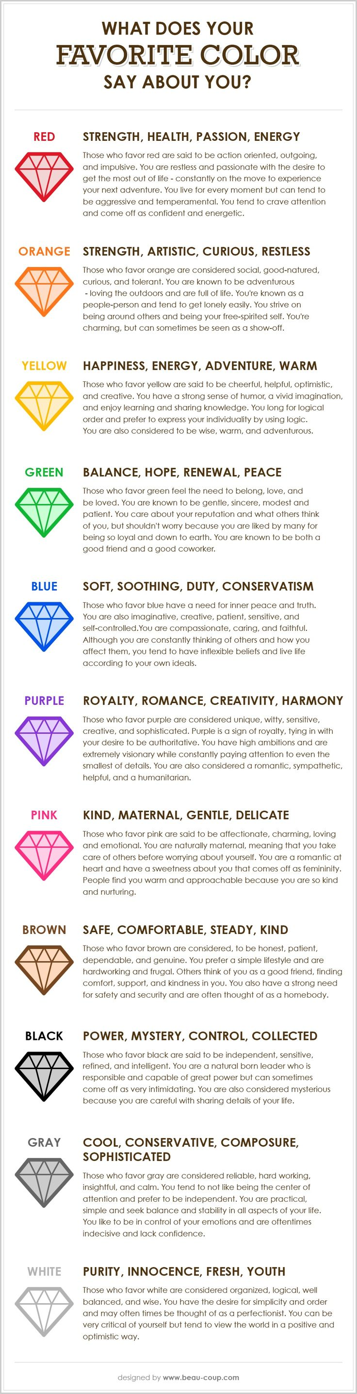 best favorite color ideas personality colors what does your favorite color say about you