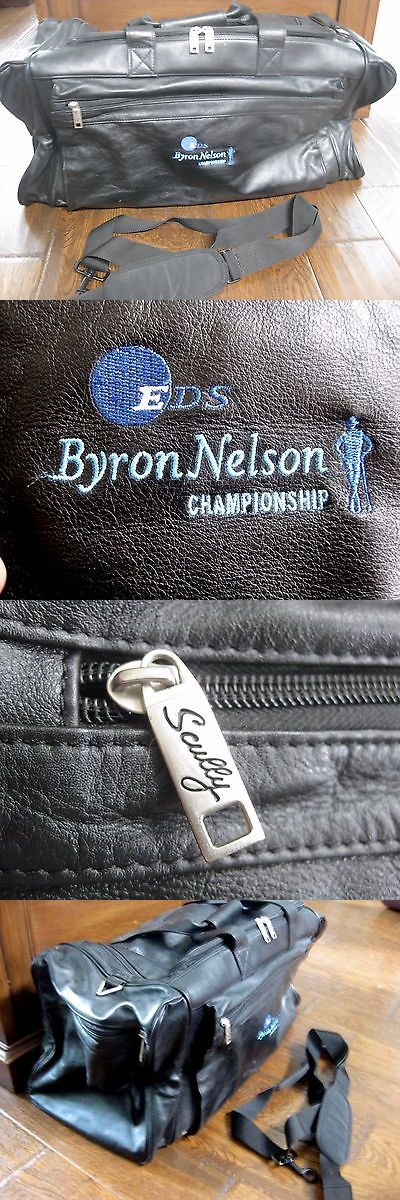 Golf 428: Byron Nelson Eds Golf Championship Scully Leather Players Duffle Carry On Bag -> BUY IT NOW ONLY: $50 on eBay!