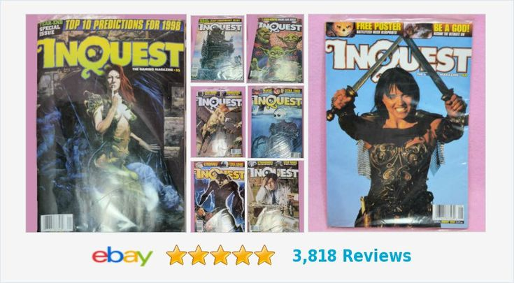 Did you request #Inquest ?  Vintage circa 1998 SEALED gaming magazines! #Gamers #Gaming #CCG #TCG #fantasy