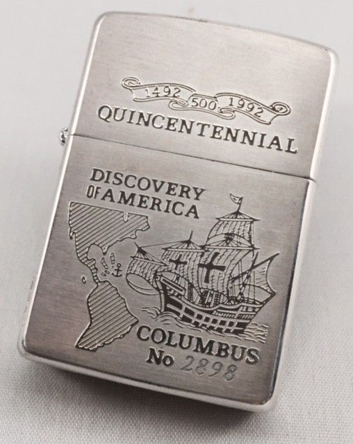 Columbus Discovery of America - Abelardo's Military Zippo Collection