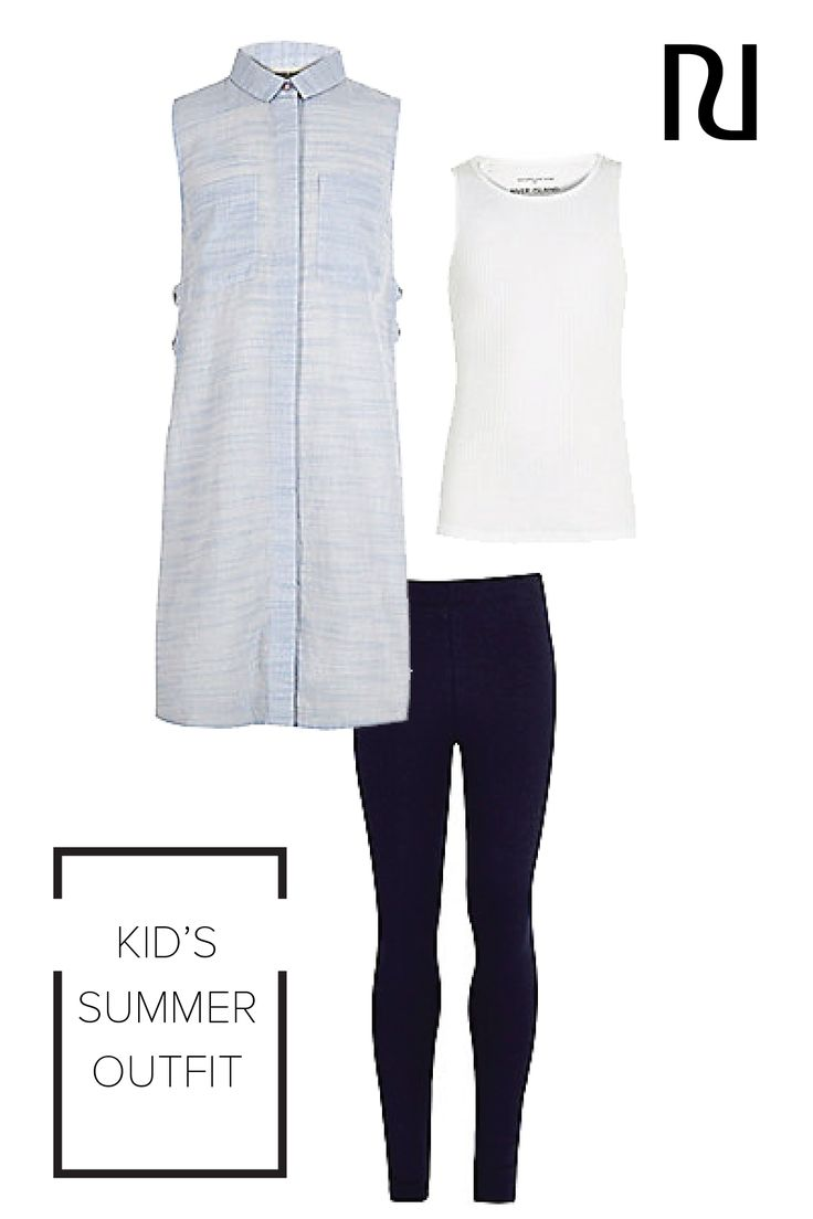 She'll be the coolest kid in pre-K with this three-for-one look from River Island. Stretchy leggings and a comfy sleeveless shirt will allow her to run around this spring, while still looking cute as can be!