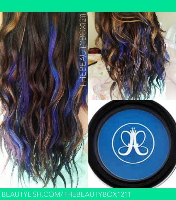 101 best new look images on pinterest hairstyles braids and hair electric blue temporary mermaid hair blue hair highlightscolored pmusecretfo Images