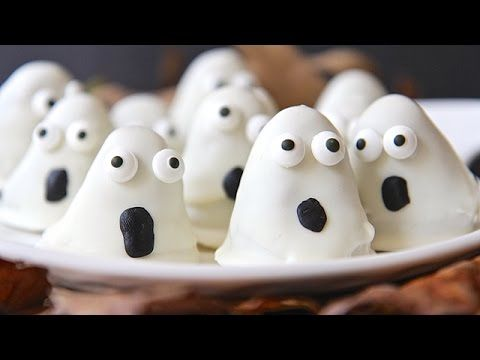 Easy Halloween Oreo Ghost Truffles - YouTube