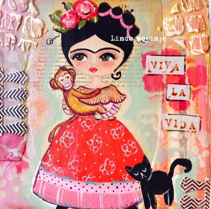 Cuadro pintado a mano.Frida Kahlo