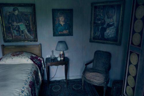 """thebloomsburygroup: """" Photo of Virginia Woolf's bedroom in Charleston by Annie…"""