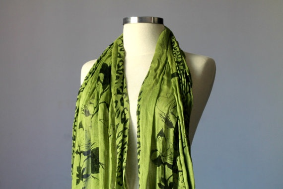 Scarf infinity pashmina of high quality fabric scarf by yarnisland, $14.00