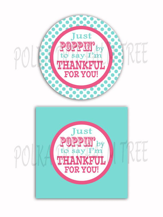 INSTANT DOWNLOAD DIY Printable Polka Dot Just Poppin By To ...