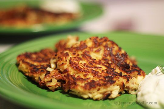 Parsnip and Pear Pancakes with Horseradish Sour Cream via ...