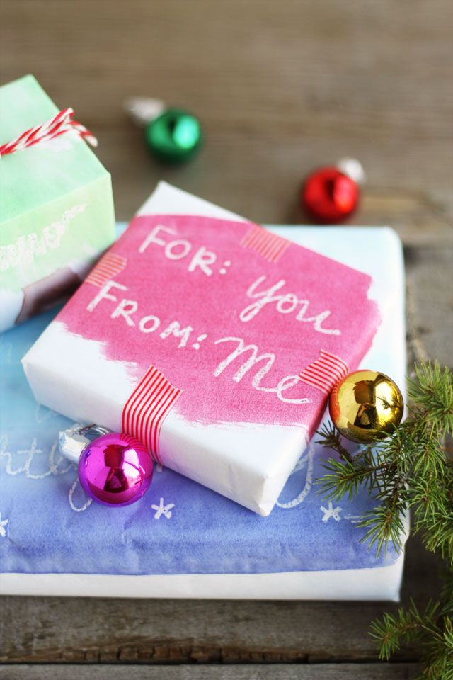 DIY:Watercolor Wrapping Paper ~ You Need>White kraft paper