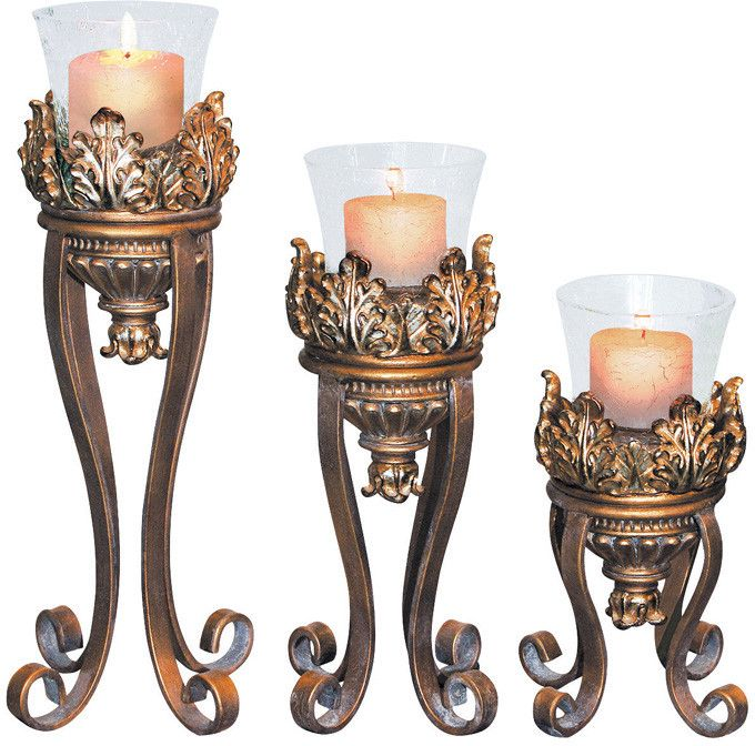 Ok Lighting OK-2945-31 Royal Victorian Candleholder Set Of 3