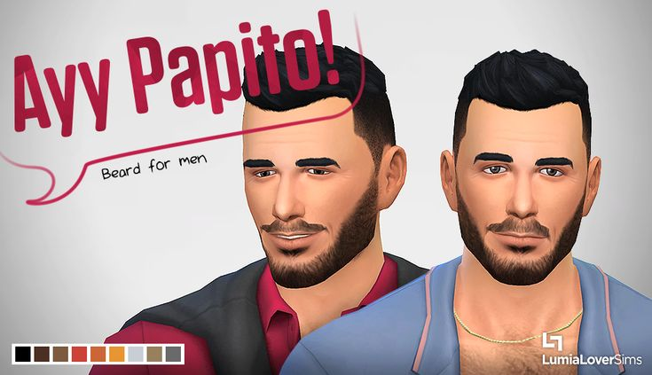 LumiaLover's Lair - A beard to give your male Sims a little bit of...
