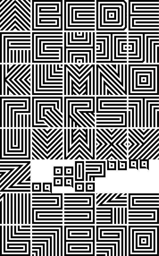 Stripe Font by Gray Ng, via Behance
