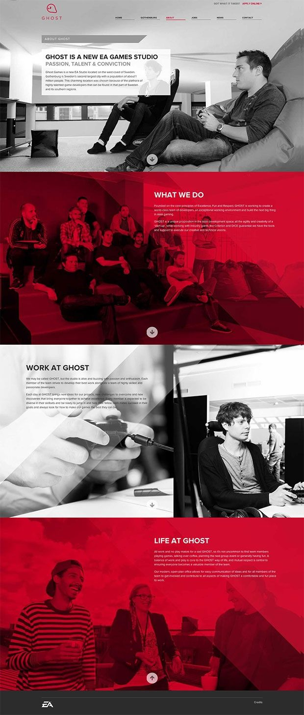 25 Great Web Designs | From up North  Boring, bad, insignificant. Grey and red what can you say?