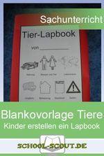Lapbook zum Thema Tiere - Ob Katze, Hund oder Maus, hier gibt es zahlreiche Vorlagen für ein Lapbook im Unterricht der Grundschule.