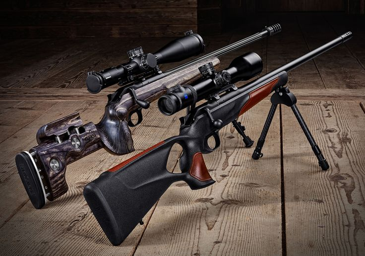 The Blaser R8 Long Range rifle comes in two stock styles. The GRS (left) is designed for competition, while the Professional Success stock (right) is geared more for hunting.
