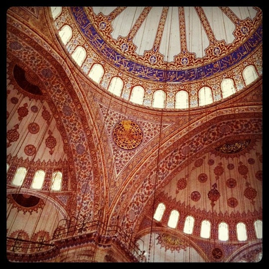 The Blue Mosque, Istanbul, looks like a benevolent elephant